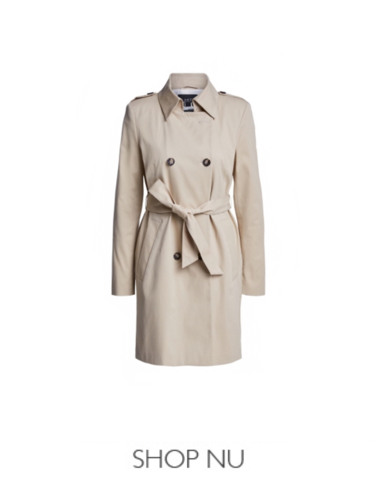 SET Fashion trench coat bij Marja Lamme Fashion