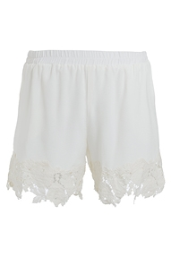 Gold Hawk Julia lace silk shorts - dove