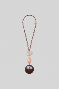 Maliparmi NECKLACE - marrone rosa