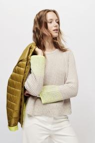 Luisa Cerano jumper with sequin details - ginger/neon