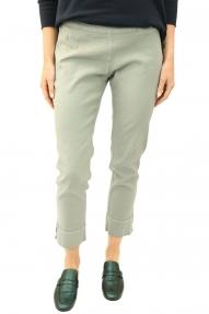120% Lino Broek Pantalone Donna Cruise grijs