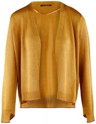 Luisa Cerano cardigan with glitter - gold