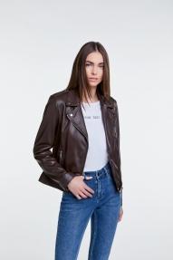 SET Fashion Tyler leather jacket - dark brown