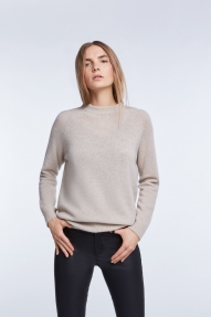 SET Fashion cashmere-wool sweater - light stone