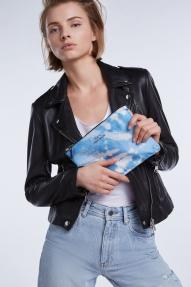 SET Fashion Batik Pouch - it blue white