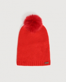 Woolrich Ws Cashmere Pon Pon Hat rood