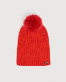 Woolrich Ws Cashmere Pon Pon Hat rood