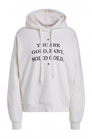 SET Fashion sweatshirt met print - egret