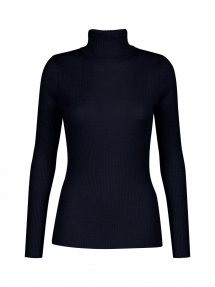 No Man's Land roll-neck sweater - dark sapphire
