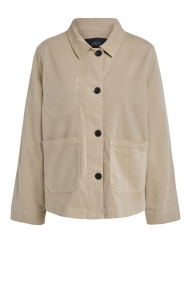 SET Fashion Garment Dyed Jacket - Stone