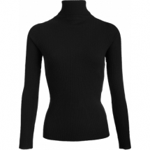 No Man's Land roll-neck sweater - core black