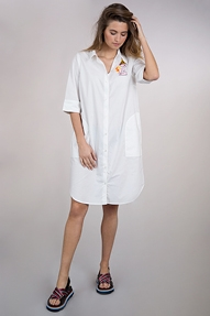 Essentiel Pampe long shirt dress wit