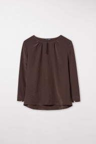 Luisa Cerano FLOWING BLOUSE chocolate