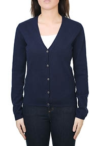 Allude V-cardigan 1/1 donkerblauw
