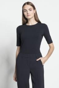 Luisa Cerano viscose stretch shirt - navy