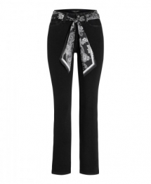 Cambio Parla flared jeans with belt - black