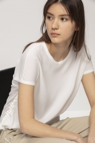 Luisa Cerano shirt with drawstring details - off-white
