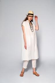 colores lange jurk - birch