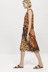 Luisa Cerano silk sarong with floral print - dessin brown