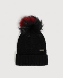 Woolrich Ws Bicol Pon Pon Serenity Hat zwart