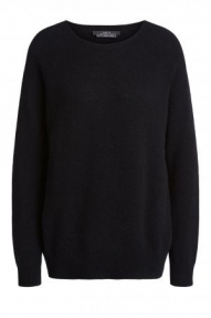 SET Fashion Cuddle cashmere blend sweater - black