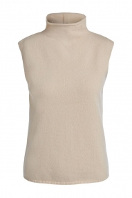 SET Fashion Knitted top with roll neck - off white