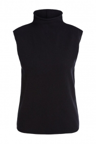 SET Fashion Knitted top with roll neck - black