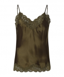Gold Hawk Floral Lace Cami groen