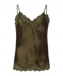 Gold Hawk Floral Lace Cami groen