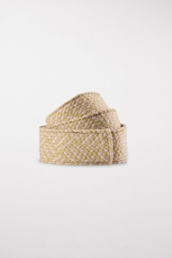 Luisa Cerano belt with a plaited look - saffron / blush