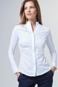 Windsor satin blouse - white