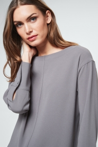 Windsor crepe blouse - grey