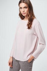 Windsor crepe blouse - powder rosé