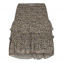 co couture darling flower smock skirt black