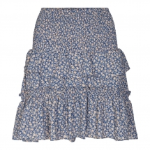 Co'Couture Breeze Flower Smock Skirt - new blue