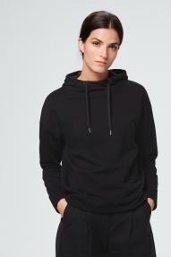 Windsor jersey hoodie - black