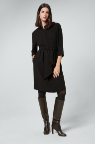 Windsor crêpe jurk - black
