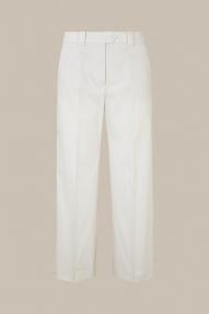Windsor cotton satin culottes - ecru