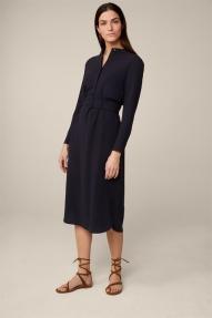 Windsor Crêpe Shirt Dress - black