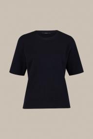 Windsor Full Milano Knit Shirt - navy