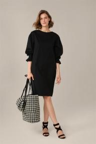 Windsor Cotton Stretch Dress - black