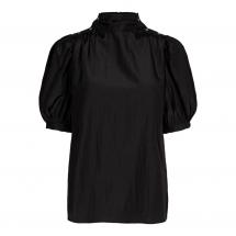 co couture keeva drape blouse black