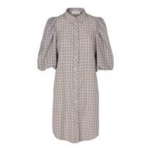 co couture puff shirt dress Pale blue