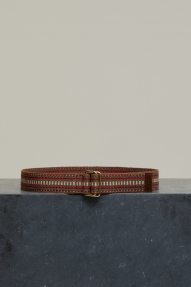 Closed Woven Textile Belt - antique wood