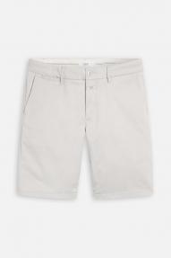 Closed Cotton Twill Shorts - shiitake