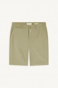 Closed Cotton Twill Shorts - green bark
