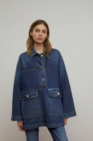Closed Eleni overshirt-dark blue