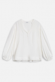 Closed Voile Cotton Blouse - ivory