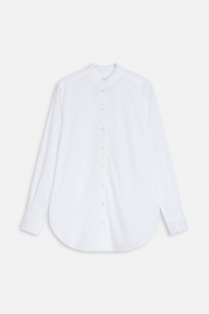 Closed Long Organic Cotton Blouse - white