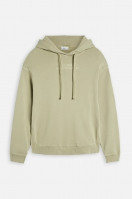 Closed Organic Cotton Hoodie with Print - green bark